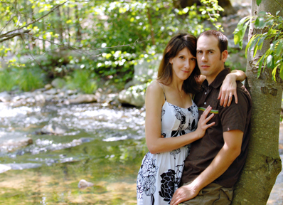 Couple by Tree and Water OutdoorPortraits