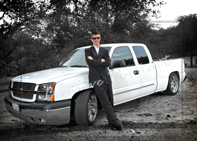 Senior Portrait with Truck