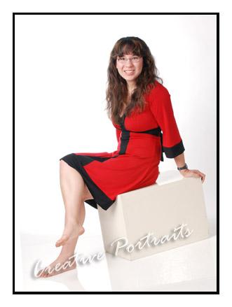 Senior Portrait inRed