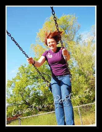 senior on swing