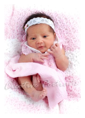 welcome baby ivy newborn portrait 1 week old senior portrait