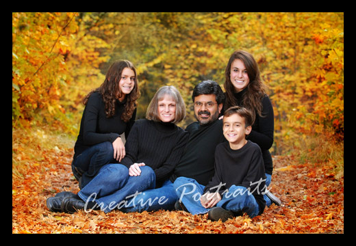 Fall Family Portraits Outdoors And