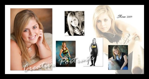 senior portraits collage
