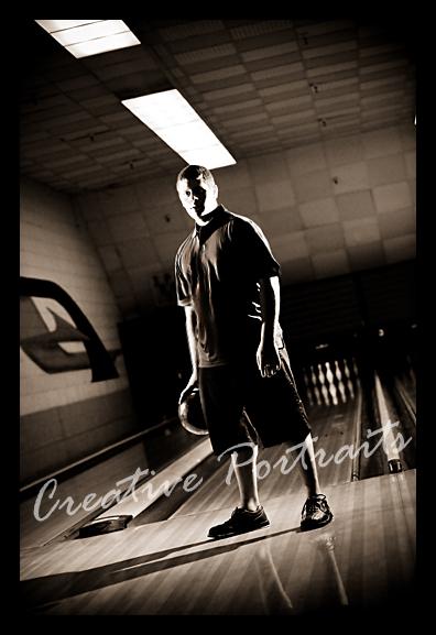 bowling senior portrait