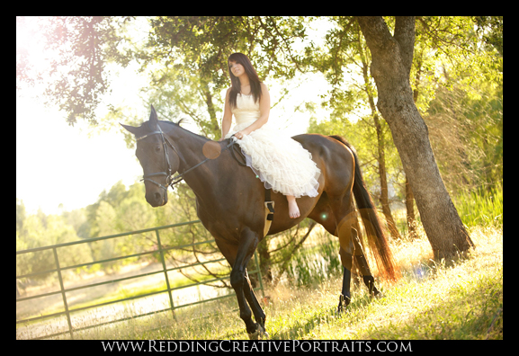 Senior Portrait Photographer with Horse