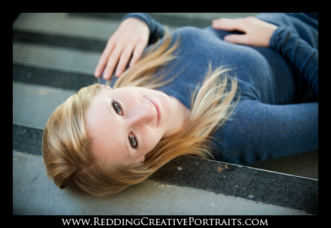 Outdoor Senior Portrait Photographer in Redding