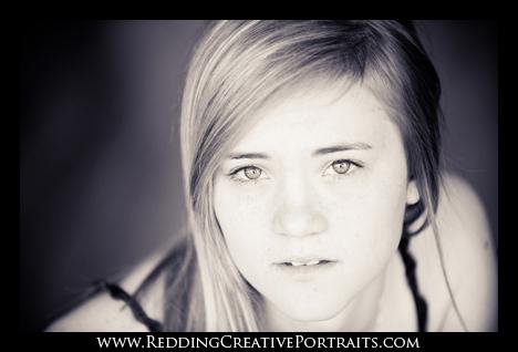 black and white senior portraits