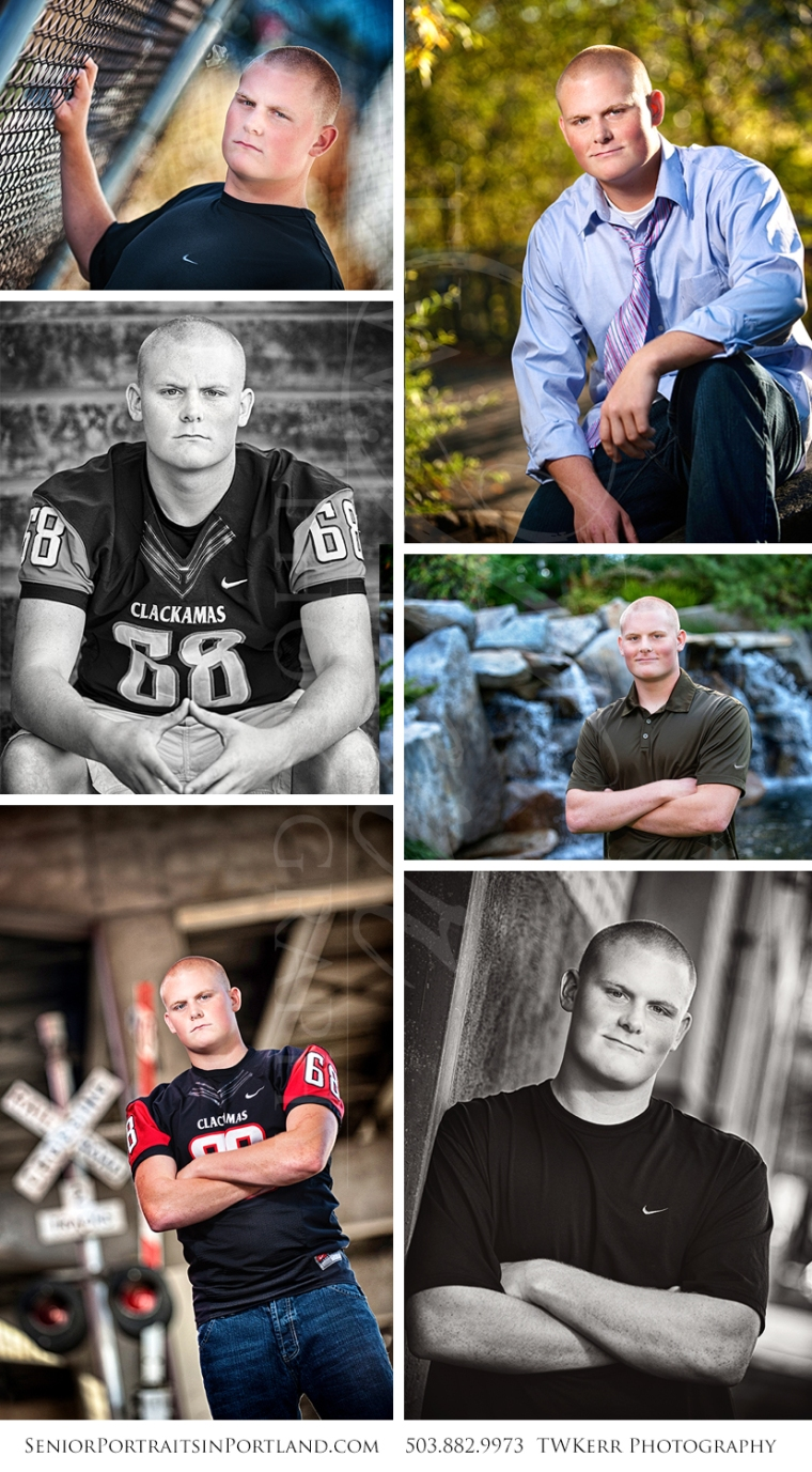 senior portraits in portland clackamas high football